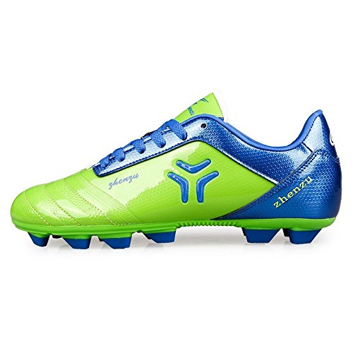 Xing Lin Chaussures De Football Chaussures De Football Jeux Adultes Masculins Le Gazon Artificiel Fg/Ag Spike Des Adolescentes Étudiant Enfant Chaussures De Football Broken Nails, 36, Vert