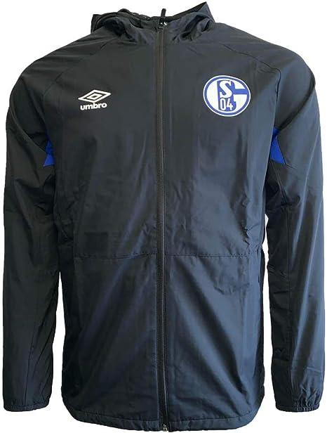 Everton Training Shower Jacket Black Mens Umbro