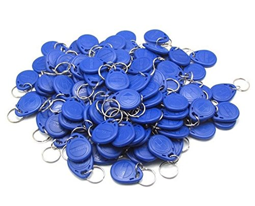 125KHz RFID Proximity EM 4100/4102 ID Keychains Tags Key Fobs For Access Control System(Blue,Pack of 20)