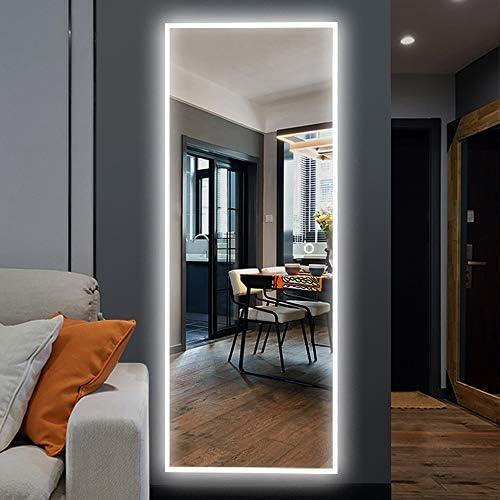NeuType 65″x22″ LED Mirror Full Length Dressing Mirror Large Rectangle Bedroom Bathroom Living Room Mirror