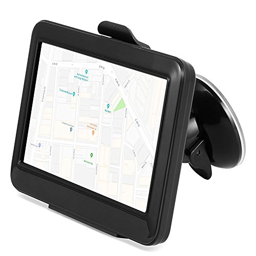 Car GPS Navigation with 24GB Capacity, SQDeal 5 Inch Capacitive Touch Screen Voice Prompt Capacitive Car Truck Navigator with 2018 World Map, Free Lifetime Updates, FM, Driver Alerts for US & Europe