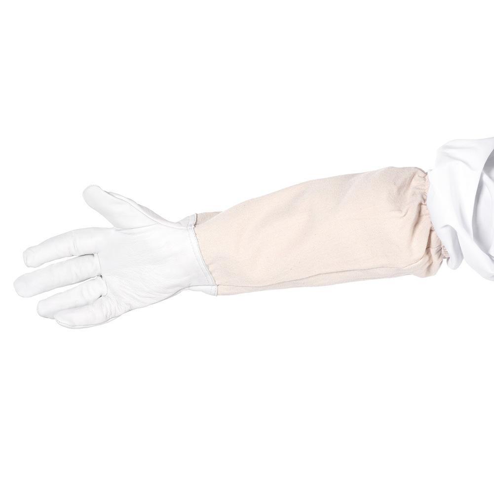 L Apicultor profesional Juego de traje de protecci/ón Guantes Algod/ón Apicultor Proteger Equipos Blanco
