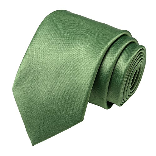 Men Neckties Solid for Ties Work Wedding in 16 Satin Polyester Formal Pure Color green 22 Colors Neck Classic Party Plain qzwpExngEC