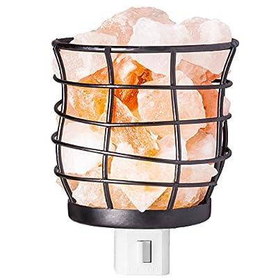mockins Himalayan Salt Night Light Basket And Cylinder