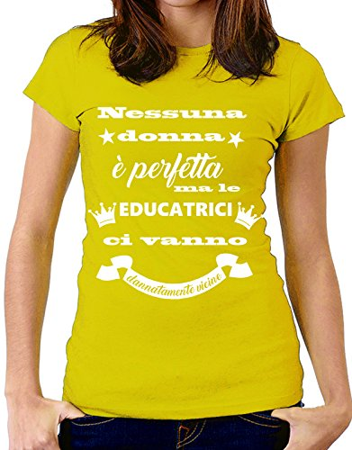 Taglie Educatrice Tshirteria Vanno Donna Tutte Dannatamente Le Mestieri By Nessuna Giallo Ma Educatrici È Perfetta Tshirt Vicine Ci p764aqUnq