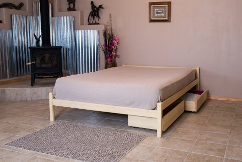 Bamboo Maple Bed - Platform Bed Nomad Furniture Pecos Queen Size Maple
