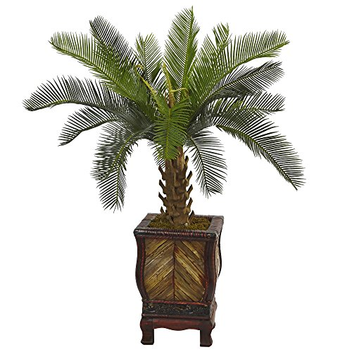 Nearly Natural 3' Cycas Artificial Tree in Wood Planter, Green by Nearly Natural (Image #4)