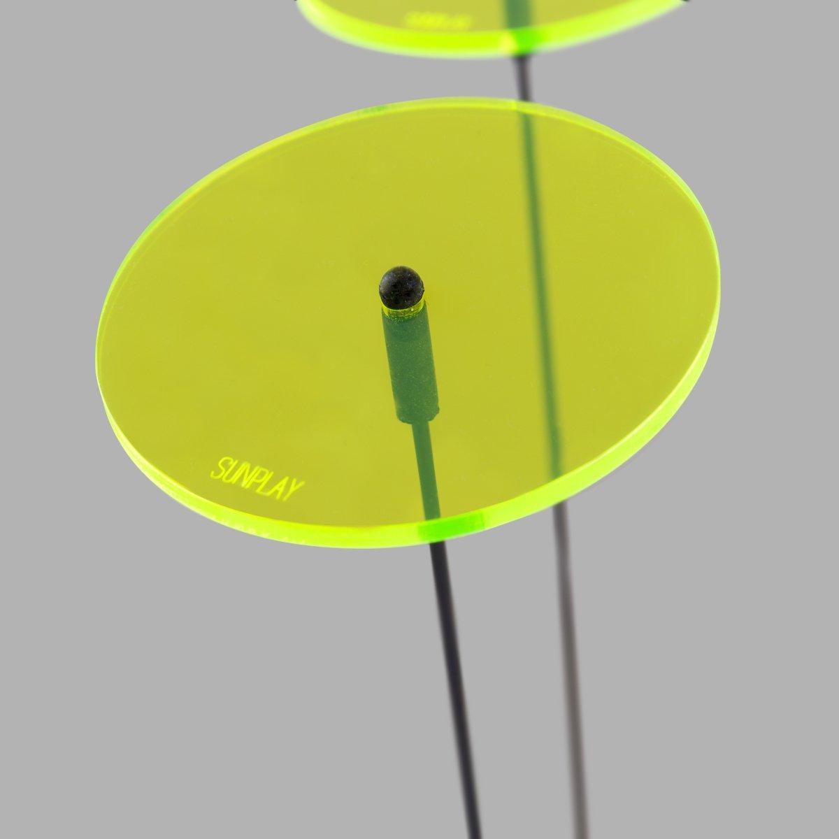 SUNPLAY Sonnenf/änger-Scheiben in GR/ÜN 5 St/ück /à 7 cm und 5 St/ück /à 10 cm Durchmesser 10 St/ück im Set 35 cm Schwingst/äbe