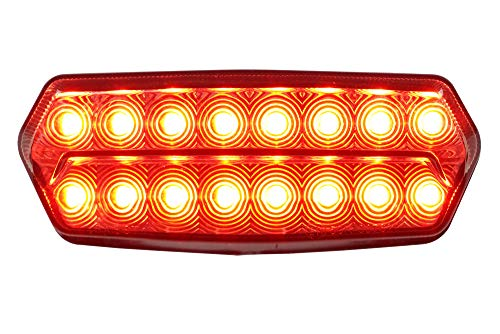 Integrated Sequential LED Tail Lights Smoke Lens Version 2 for 2014-2019 Honda Grom 125