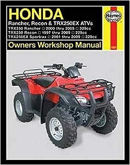 Honda Rancher, Recon & TRX250EX ATVs 97 - 09 Haynes Repair ...