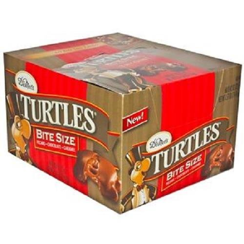 TURTLES BITE SIZE PECANS/CHOCOLATE/CARAMEL BARS 0.42 oz Each ( 60 in a Pack ) by Turtles