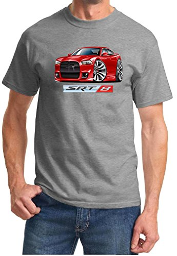 2012-14 Dodge Charger SRT8 Hemi Full Color Design Tshirt XL Grey (Difference Between Dodge Charger Rt And Srt8)