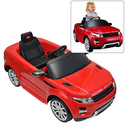 Rastar Range Rover Ride On Car With Remote Control For Kids | 12V Power Battery Evoque Kid Car To Drive With 2.4G Radio Parental Control Red (Kids Drive)