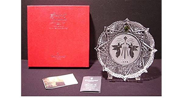Hark the Herald Angels Sing 1998 WATERFORD CRYSTAL CHRISTMAS ORNAMENT