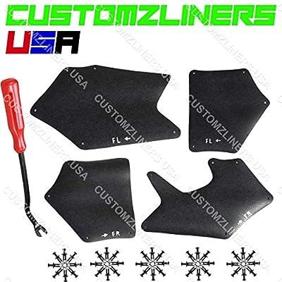 CUSTOMZLINERS USA Apron for 2007-2020 Toyota Tundra Fender Liner Seal Splash Shield Guard Flap: Automotive