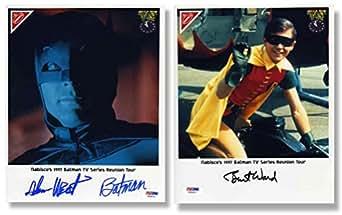 Batman Cast Adam West and Burt Ward Nabisco Signed 8x10 Photos Certified Authentic PSA/DNA COA