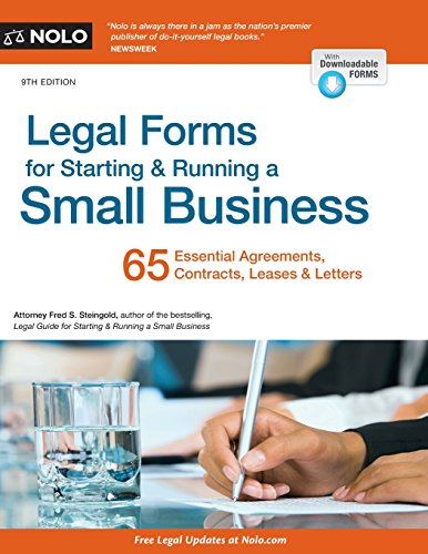Legal Forms for Starting & Running a Small Business (Starting Llc)