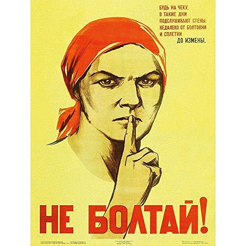 Wee Blue Coo War Propaganda Ww2 Soviet Union Gossip Vintage Retro Advertising Unframed Wall Art Print Poster Home Decor ()