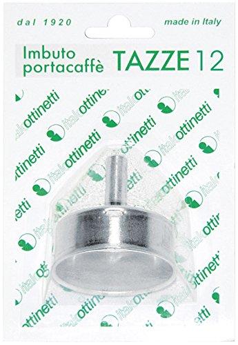 Italo Ottinetti Blister Pack Coffee-Maker Filter Funnell 12 Tz, Aluminium, Metallic, One Size