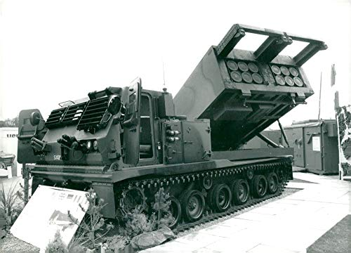 (Vintage photo of The M270 Multiple Launch Rocket System )