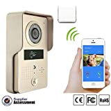 Motion Detecting Waterproof HD Night Vision Tamper Alarm iPhone Android Multi-user Support Real-time Push APP Video Intercom WiFi Doorbell- Gold