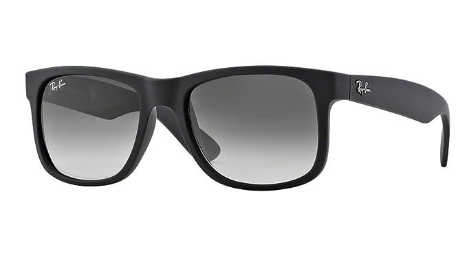 Ray-Ban Men s 0RB4165 Justin Non-Polarized Sunglasses, Black Rubber, 55mm ( ce2dd860be