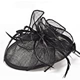 Women's Vintage Fascinators Hat Flower Mesh with Clip for Wedding Bridal Headware Church Cocktail Party Headdress