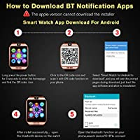 Smart Watch,Smart Watches,Smartwatch for Android Phones, Smart Wrist Watch  Touchscreen with Camera Bluetooth Watch Phone Watch Cell Phone Compatible