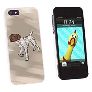 Graphics and More German Shorthaired Pointer - Pet Dog Snap-On Hard Protective Case for Apple iPhone 5 5s - Non-Retail Packaging - White