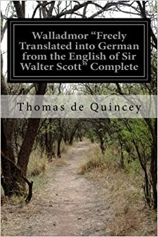 Book Walladmor 'Freely Translated into German from the English of Sir Walter Scott' Complete: 1-2