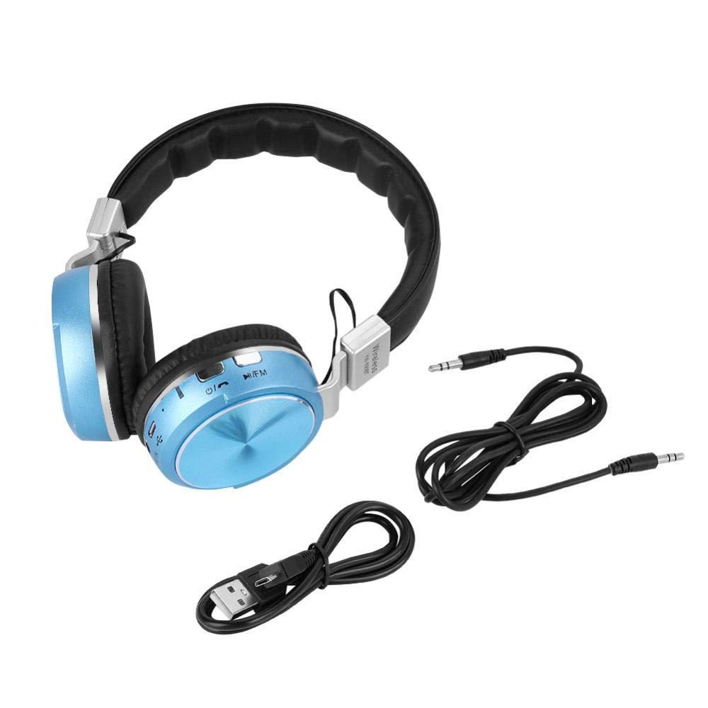 Ichiias Over-Ear Headphone Wireless Bluetooth 4.1 Stereo Sound Headset Noise Cancelling Earphones(Blue)