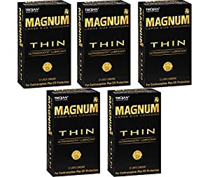 Trojan Magnum zAiRx Thin, 12 Count (Pack of 5) pgdkI
