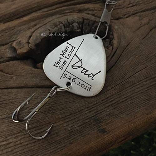 Dad: First Man I Ever Loved Fishing Lure- Personalized Date Fishing Lure Dad Fishing Unique Gift Father My First Reel Love Personalized