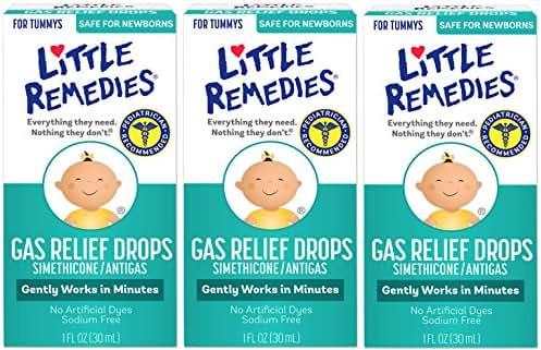 Little Remedies Gas Relief Drops | Berry Flavor | Safe For Newborns | 1 FL OZ | 3 Pack