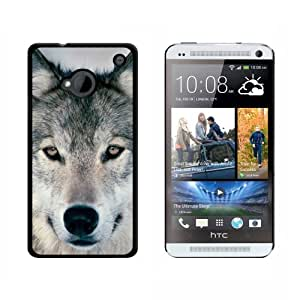 Wolf - Snap On Hard Protective Case for HTC One 1 - Black by ruishername