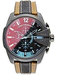 Men's DZ4305 Diesel Chief Series Analog Display Quartz Movement Brown Watch