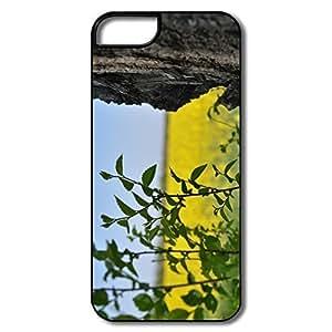 IPhone 5 5S Cases, Lea Cases For IPhone 5 5S - White/black Hard Plastic
