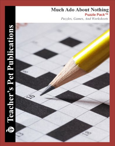 Much Ado About Nothing Puzzle Pack - Teacher Lesson Plans, Activities, Crossword Puzzles, Word Searches, Games, and Worksheets (PDF on CD)