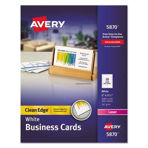 ave5870 – Averyクリーンエッジビジネスカード   B00ZAB4640