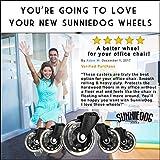 SunnieDog Ergonomic Office Chair Wheels Roll Just