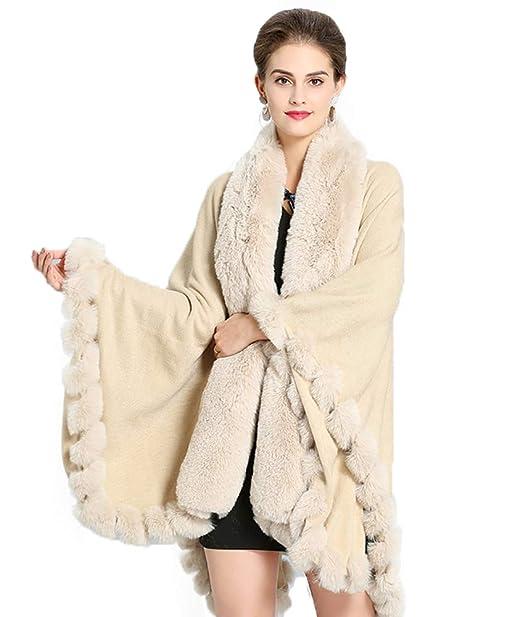 Amazon.com: Newdeve - Chaqueta de piel sintética para mujer ...
