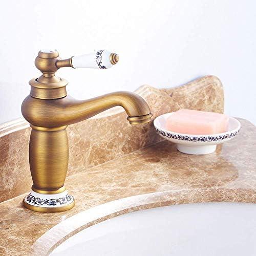 ZY-YY 水タップシングルハンドルの蛇口シンク浴室の蛇口アンティークブロンズ仕上げの真鍮流域のシンクの蛇口シングルハンドル水タップ