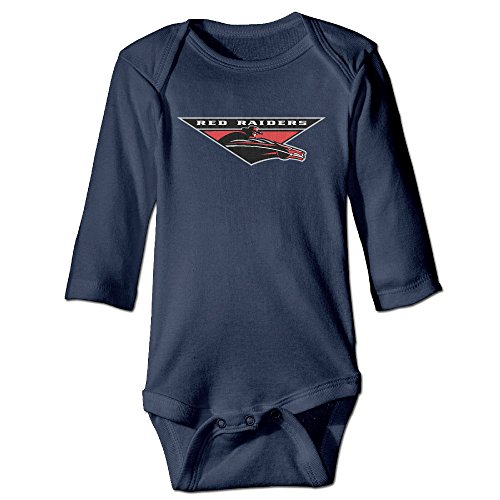 Price comparison product image OOKOO Baby's Texas Tech University Red Raiders Bodysuits Navy 18 Months