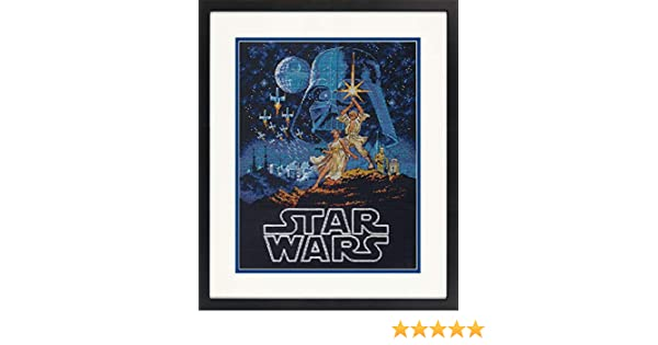 Luke /& Princess Leia #70-35380 Counted Cross Stitch Kit ~ Dimensions Star Wars