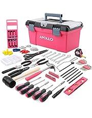 Apollo 170-Delige Roze Complete Gereedschapsset voor het Huishouden met Roze Gereedschap, Wandmontage Set en Roze Gereedschapskist voor Klussen, Decoreren & Meer - Geweldig Geschenk voor Dames