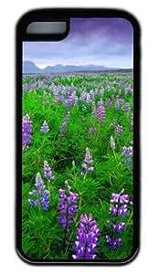 Beautiful Lavender Field DIY Rubber Black Best Designed iphone 5C Case