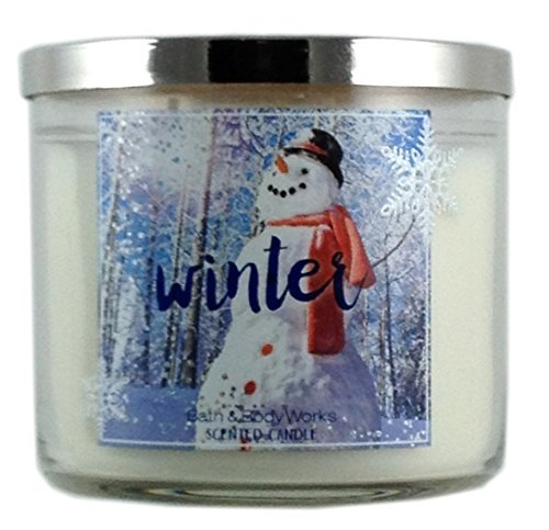 Bath & Body Works Home Winter Scented Candle 3 Wick 14.5 Oz Holiday 2015 Limited Edition