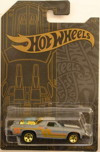 Hot Wheels Custom '71 El Camino 1 of 6 51st Anniversary Series 1:64 Scale Collectible Die Cast Model Car