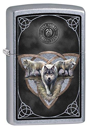 Mint Lighter Zippo - Zippo Lighter: Anne Stokes Three Wolves - Street Chrome 79263