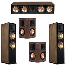 Klipsch 5.0 Walnut System with 2 RF-7 III Floorstanding Speakers, 1 RC-64 III Center Speaker, 2 Klipsch RP-250S Surround Speakers